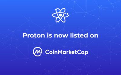 Proton is now on Coinmarketcap!