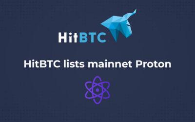 HitBTC lists mainnet Proton